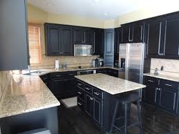 Dark Wood Floors In Kitchen Dark Oak Kitchen Cabinets With Gray Walls Best Kitchen Paint