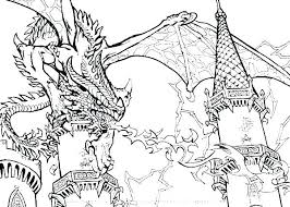 Free Dragon Colouring Pages For Adults Realistic Coloring Real With