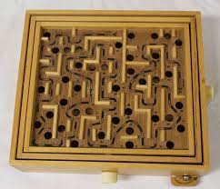 Wooden Maze Games Wooden Maze Puzzle Table Top Game with ball Estate 97