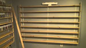 ... Wall Shelves For Cds Square Brown Stayed Varnished Rack Thin Strong  Wooden Material Antique Design Wide ...