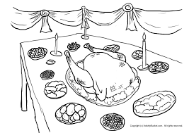 Small Picture Thanksgiving dinner coloring pages