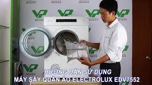 Hướng dẫn lắp đặt và sử dụng máy sấy quần áo Electrolux EDV7552 - YouTube