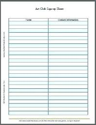 Sign Up Sheet In Template Word Welcome Rightarrow Template Database