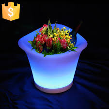 planter lighting. Modern LED Lighting Planter Rechargeable Color Changing Light Up Flower Pots With Remote Control Factory Direct Sale 12pcs/Lot-in \u0026 Planters T