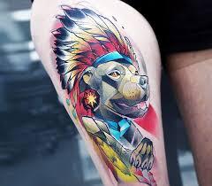 Chiefraka Indian Pitbull Tattoo By Carlos Breakone Photo 18448