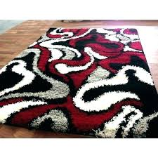 red black and white rug round gray contemporary zigzag area rugs modern bathroom large