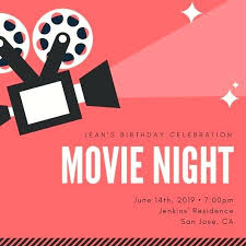 Movie Night Invitation Templates Luxury Ticket Invitation Template Free Movie Concert Night Family
