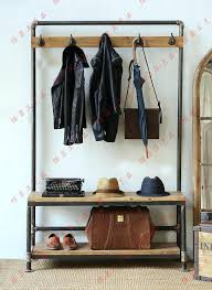 Coat Rack And Shoe Storage Bench With Shoe Storage And Coat Rack Narrow Coat Rack Bench With 63