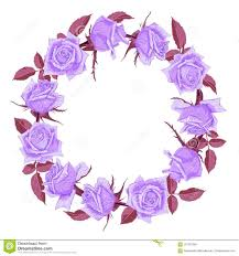 Hand Drawn Cute Floral Wreath With Roses Stock Vector
