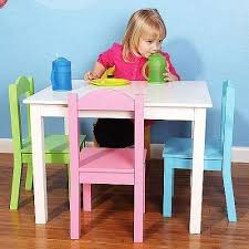 childrens wood table 4 chairs set toddlers kids furniture play gorgeous childrens dining table
