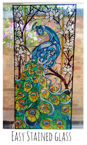 how to create your own stained glass painting