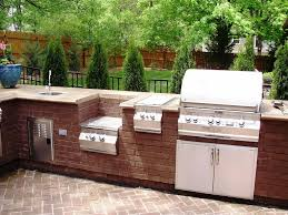 Outdoor Kitchen Refrigerator Outdoor Kitchen Ideas On A Budget Bar Stools Beside Pool Brown