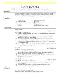 Restaurant Shift Manager Resume Sample Resume Food And Beverage Fast