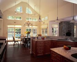 lighting for a vaulted ceiling marvelous kitchen island lighting for