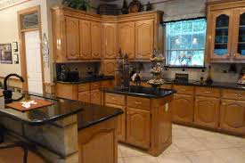 image of popular black kitchen island with granite top