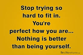 Stop Being Hard On Yourself Quotes Best of Stop Trying So Hard To Fit In Being Yourself Quotes