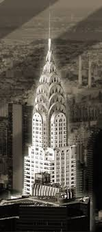 Photo of the Chrysler Building, New York, an example of Art Deco  architechture