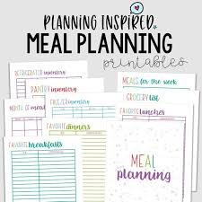 Meal Budget Planner Budget Planner Cleaning Checklist Meal Planning Basics Bundle 38 Printables Instant Download