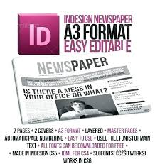 Newspaper Front Page Template Indesign Newspaper Front Pages Template For Word Skincense Co