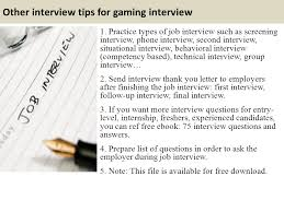 Top 10 Gaming Interview Questions And Answers Ppt Video Online