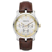 claiborne men s watches for jewelry watches jcpenney claiborne mens multifunction brown leather watch