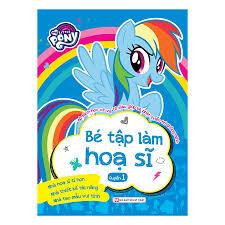Combo Pony : Bộ Sách Học Vẽ Và Tô Màu Giúp Bé Phát Triển Trí Thông Minh - Bé  Làm Họa Sĩ (2 Quyển)