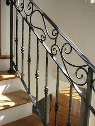 Wrought iron stair railing Modern Chair Railing Designs Handrails For Interior Stairs Wrought Iron Stair Railing Hand Crafted Custom Interior Wrought Iron Railing By Chair Molding Designs Robust Rak Chair Railing Designs Handrails For Interior Stairs Wrought Iron