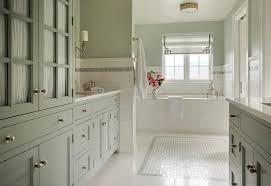 celadon green bathroom vanity with ann sacks blue celeste mosaics