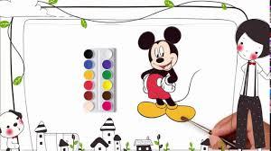 How to Coloring Mickey Mouse | For Kids - Bé học tô màu cho chuột Mickey.