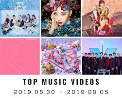 Top Charts Music Videos Youtube Top Music Videos On Youtube Korea 36th Week 2019