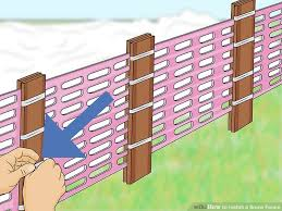how to install a snow fence with pictures wikihow natural wood