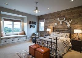 rustic bedroom lighting. Bedroom Rustic Design With Reclaimed Barnwood The Boys Features White Lighting T