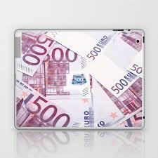 500 euros bills laptop ipad skin by