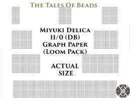 11 0 Miyuki Delica Beading Graph Paper Actual Size Seed Bead Etsy