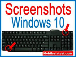 Screenshot On Pc Windows 10 How To Take A Screenshots Or Screen Capture In Windows10 Laptop Or P C