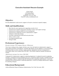Objective For Executive Assistant Resume Cover Letter Resume Templates For Executive Assistant Resume Cover 19
