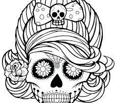 Printable Skulls Coloring Pages For Kids Printable Skulls Coloring