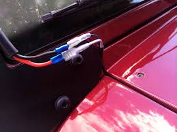 raxiom wrangler jk light bar installation wiring the harness jk light bar 020