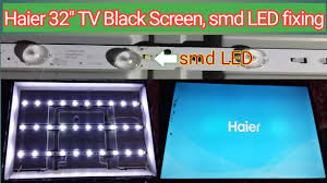 How To Fix Black Light On Tv How To Fix Led Tv Black Screen No Light Problem Fixing New