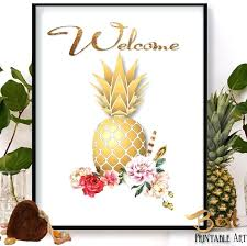 pineapple wall art items similar to pineapple print pineapple print art pineapple wall art pineapple poster pineapple wall art