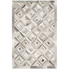 safavieh studio leather 4 x 6 hand woven leather rug in gray stl216a 4
