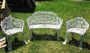 white cast iron patio furniture. Image Of: White Cast Iron Patio Furniture T