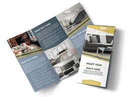 Design Brochure Template Furniture Interior Design Tri Fold Brochure Template