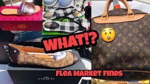 Flea Market Designer Handbags Shop With Me At The Flea Market Designer Shoes Handbags Plus Much More
