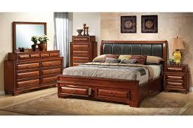 king size bedroom sets   North Coast - Cherry King Size Storage Bedroom Set