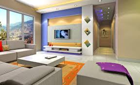living room lcd wall design tv wall color unit combination rendering