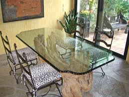 geometric isomer glass dining table chipped