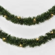 White Garland No Lights Details About 40ft Prelit Artificial Christmas Garland Clear Lights Wondershop