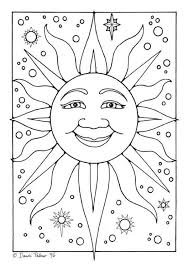 Small Picture 161 best Sun Moon and Stars Coloring images on Pinterest Sun