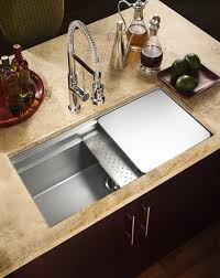 Best Kitchen Sinks And Faucets Kitchen Brown Single Bowl Cooper Kitchen Sink With Brown Ceramic